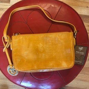 NWT Piero Guidi Magic Circus Mustard Yellow purse